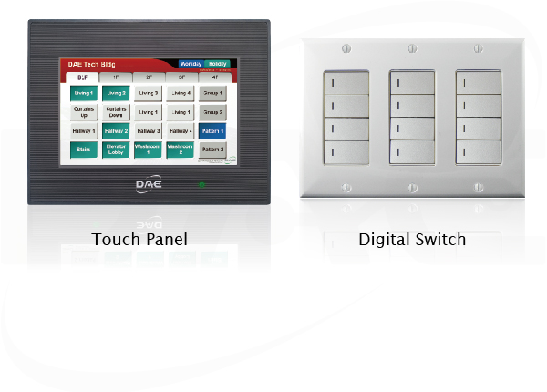 touch panel or digital switches