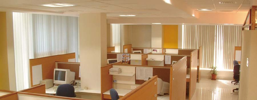 Large open offices lighting