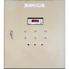 Front of power panel with panel meters