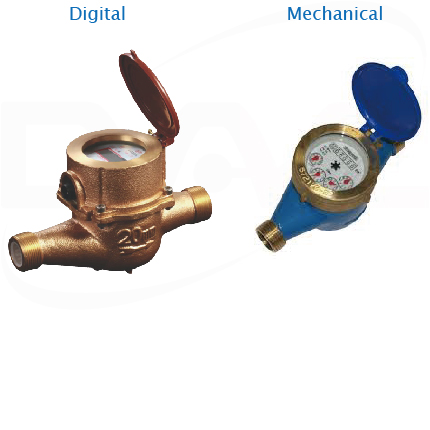 Digital and Mechanical Water Meter